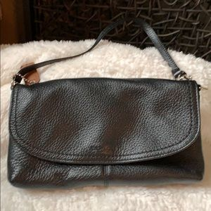 Coach wristlet black leather